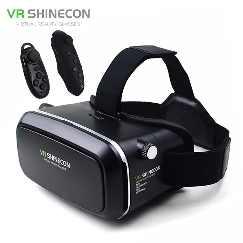 "<font><b>VR</b></font> Shinecon Virtual Reality 3D <font><b>Glasses</b></font> <font><b>Helmet</b></font> <font><b>VR</b></font> Box Cardboard <font><b>for</b></font> 4.7-6"" Smartphone 3D <font><b>Movie</b></font> <font><b>Game</b></font>+Bluetooth Controller/Gamepad"