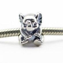 Lucky Elephant Granos Adapta Pandora Charms Pulsera 2016 Verano Animal Beads Original 925 Granos de la Plata Esterlina Para La Joyería Que Hace