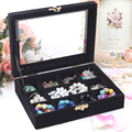 A213-4 High Grade Velet Soft Jewelry Box Charms Pendants Storage Display Small 20*15*4.5cm 12units 430g