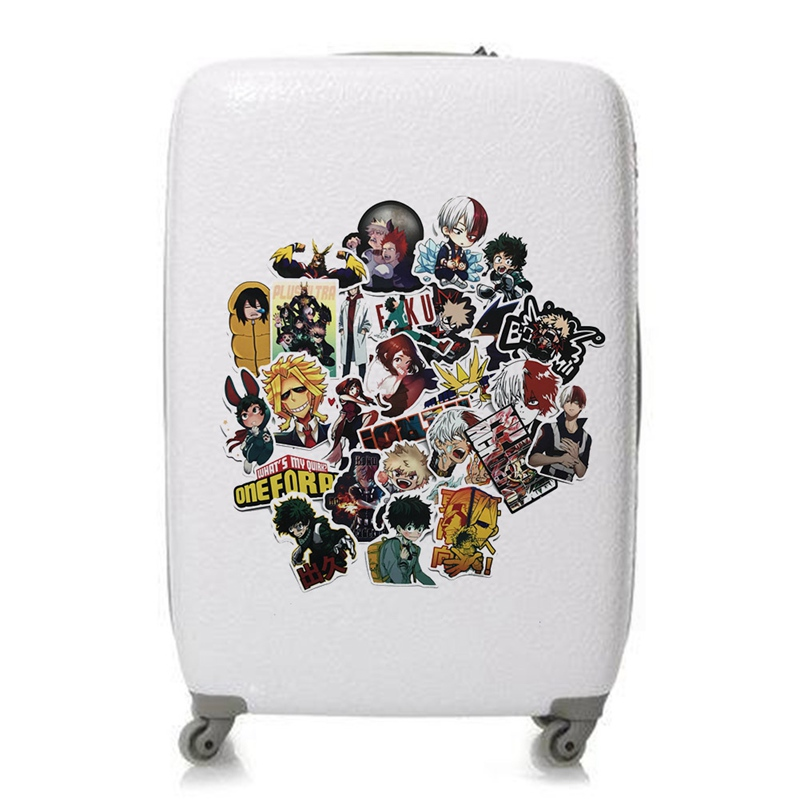 Office & School Supplies 73pcs/pack My Hero Academia Anime Sticker Skateboard Waterproof Trolley Case Laptop Skateboard Stickers Toys Gifts For Kids Buy One Get One Free