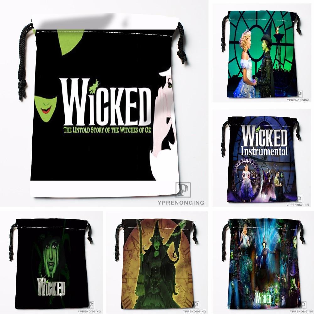 Custom WICKED Drawstring Bags Travel Storage Mini Pouch Swim Hiking Toy Bag Size 18x22cm#0412-11-109