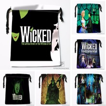 Custom WICKED Drawstring Bags Travel Storage Mini Pouch Swim Hiking Toy Bag Size 18x22cm#0412-11-109