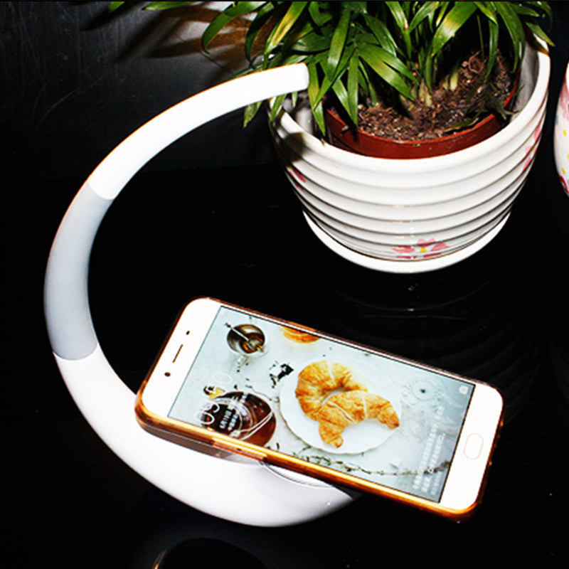 все цены на Mini type with lower power LED table Lamp with wireless charger and QI for iphone huawei Samsun all mobile phone