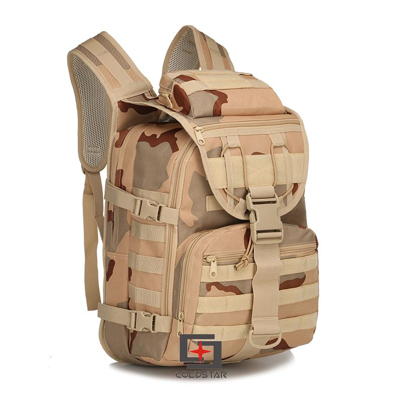 Tri Color Camping Bags Unisex Outdoor Waterproof Molle Bagpack Military 3P Tactical Backpack Big Assault Travel