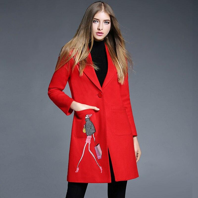 Online Buy Wholesale designer red coat from China designer red
