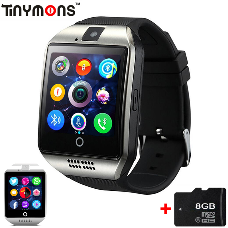 Bluetooth Smart Watch Q18 Intelligent Clock For Android Phone With Pedometer Camera SIM Card Whatsapp Call Message Display pk A1 smart watch q18 gold