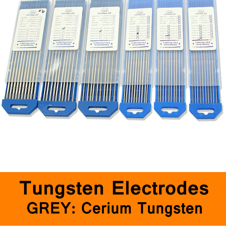 Tungsten Electrode Grey Color Code Cerium Tungsten Rod Needle Wire for TIG WSME Welding Machine Accessories Solder Pin 10pc/box