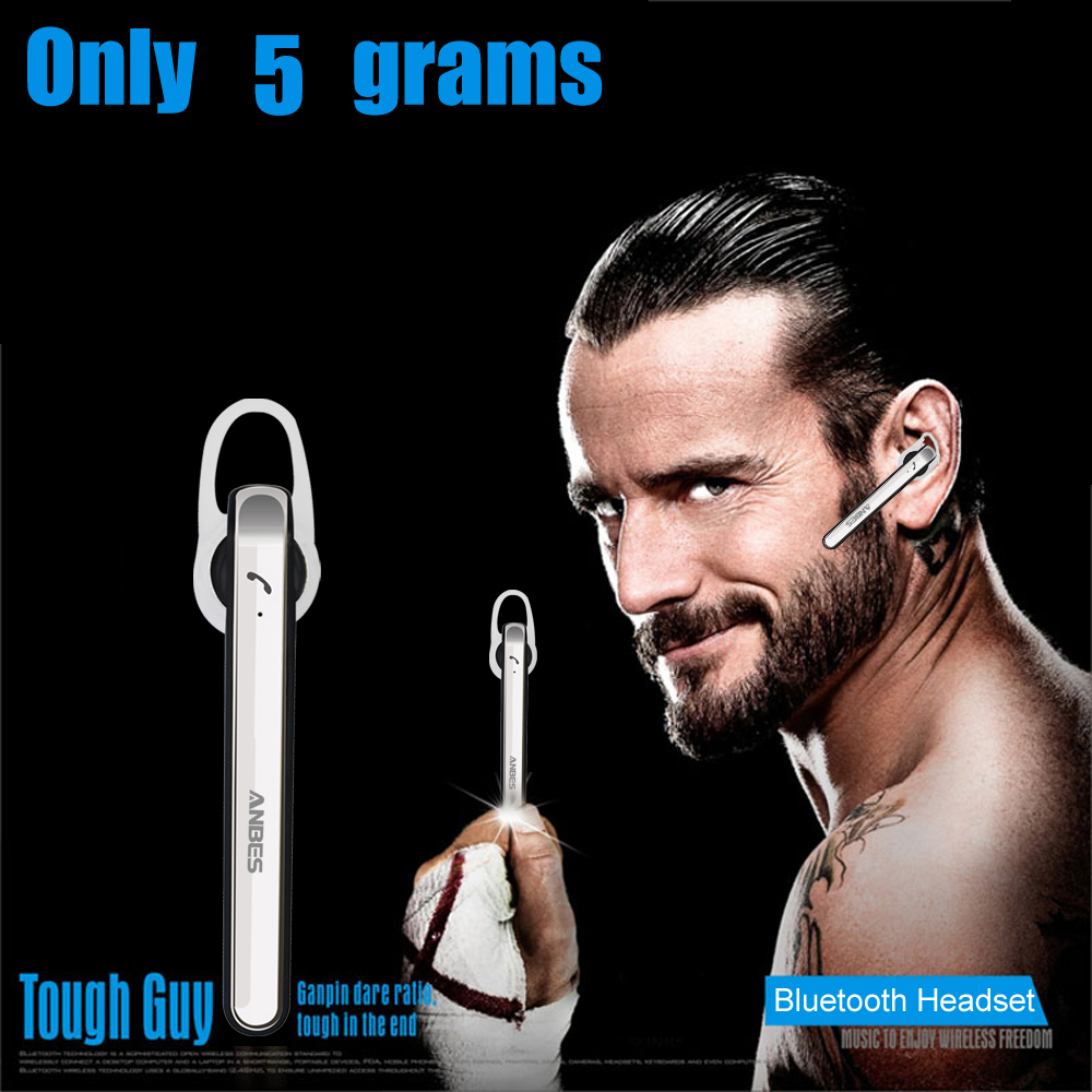 Original ANBES Ultralight Stereo Bluetooth 4.0 Headsets Wireless Hands Free Music Earphone Headphone With Mic for All Phones