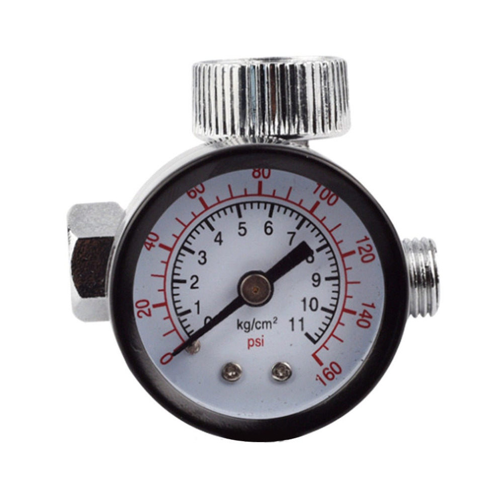 1/4inch Adjustable Mini Air Pressure Regulator Dial Gauge HVLP Spray Gun Pneumatic Air Tools Airbrush Accessories