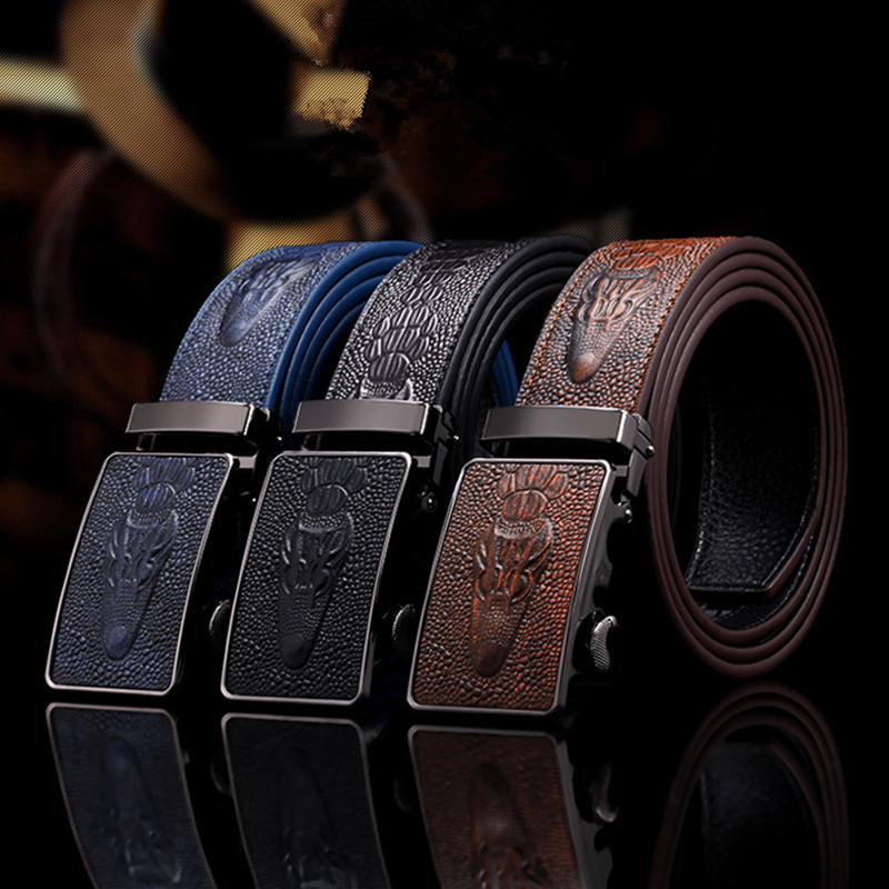 2019 Latest Design El Barco Men Casual High Quality Belt Black Coffee Blue White Yellow Brown Male Leather Belts Crocodile Buckle Waist Strap Back To Search Resultsapparel Accessories