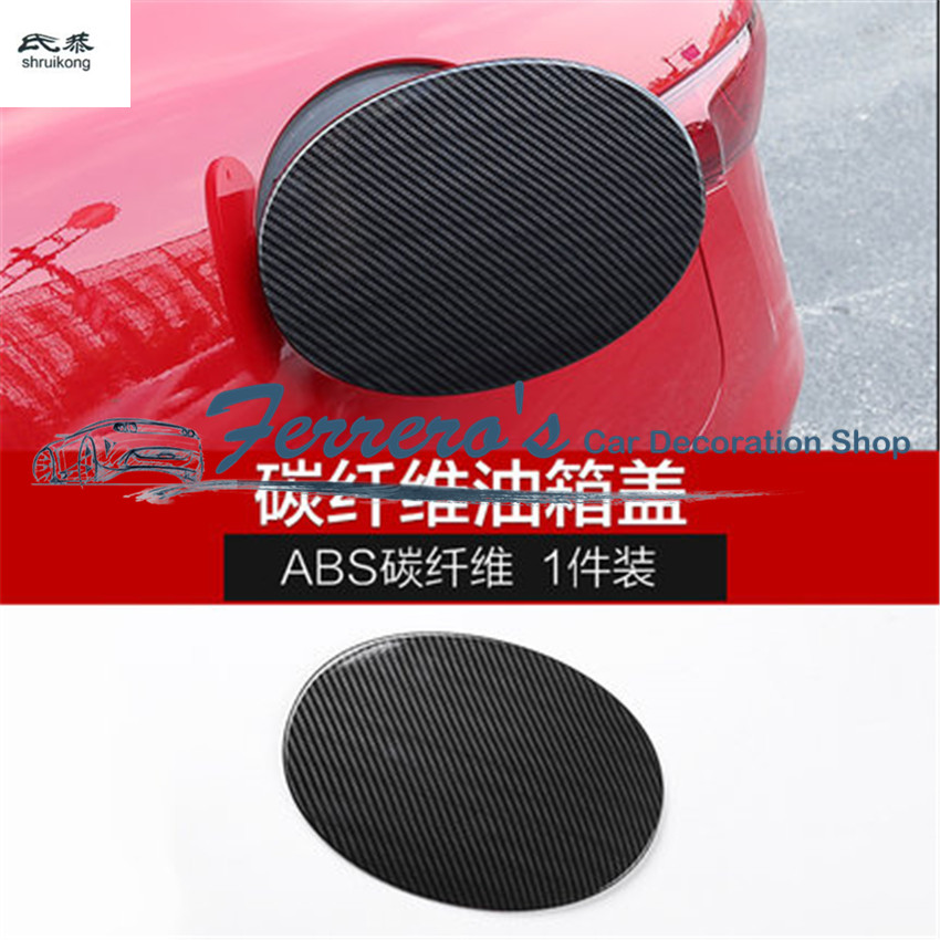 Free Shipping Carbon Fiber Grain 1pc For Alfa Romeo Giulia