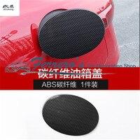 Free shipping carbon fiber grain 1pc For Alfa Romeo Giulia 2017 2018 ABS Chrome car fuel tank cap decoration cover car stickers