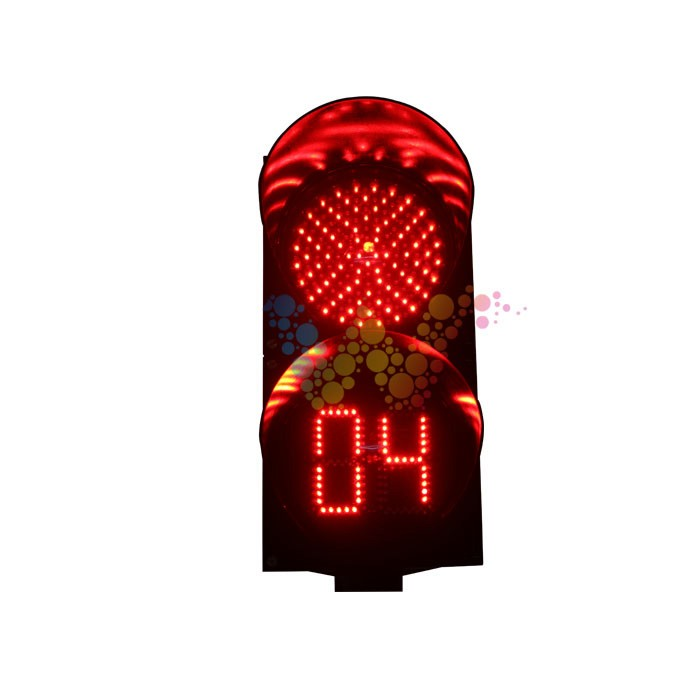 WDM 200mm LED Traffic Signal Light With Countdown Timer