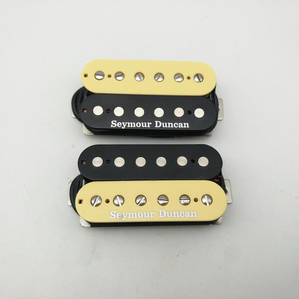Hot Rodded Seymour Duncan Humbucker Set SH 1n and SH 4 Guitar Pickups zebra USA