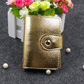 Free shipping fashion patent leather card holder , Wholesale Double snap card case wallet cc05