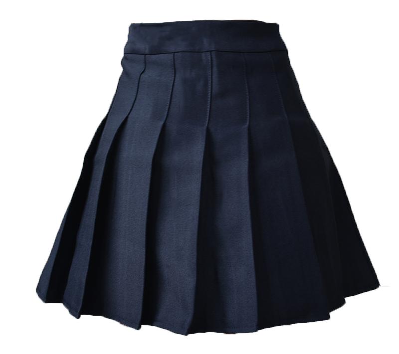 Elegant half pleated high waist mini skirt 10