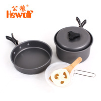 Hewolf 1 2 People Outdoor Camping Cooker Field Supplies Portable Cooking Utensils Hiking Cooking Picnic Bowl