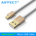 AIFFECT Super Strong TPE Metal Plug Micro USB Fast Charging Cable for iPhone 7 6 6s Plus 5s iPad mini / Samsung / LG / HTC