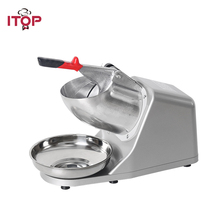 ITOP Commercial Stainless Steel Ice Crushers Shavers Ice Snow Cone Machine Ice Smoothies Tea slush sand Block Breaking maker