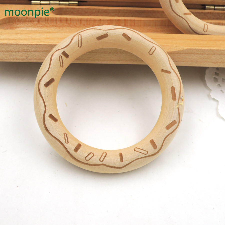 Baby Teethers Mother & Kids 20pcs Customized Natural Round Maple Wooden Teether Ring,70mm Special Wood Cookie Engraving,unfinished Baby Teething Toy Ea257a To Be Distributed All Over The World