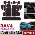 Противоскользящий коврик для телефона ворота шлифовальные маты чашки резиновые коврики коврик для Toyota RAV4 2019 2020 2021 XA50 RAV 4 50 наклейки на автом...