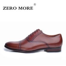 Zero более бренд Мужская обувь Британский Обувь в деловом стиле 100% Мужская обувь из натуральной кожи Удобные свадебные туфли черный/коричневый