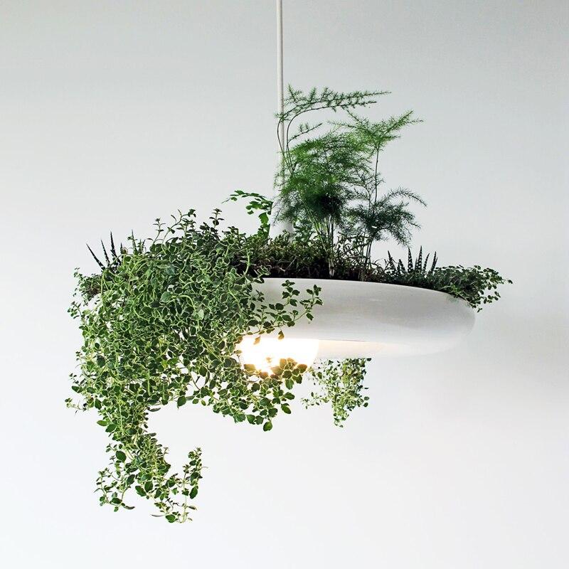 Ciel jardin simple personnalité plante jardin art naturel air propre lustre led fer luminaire lampes led lustre lumière