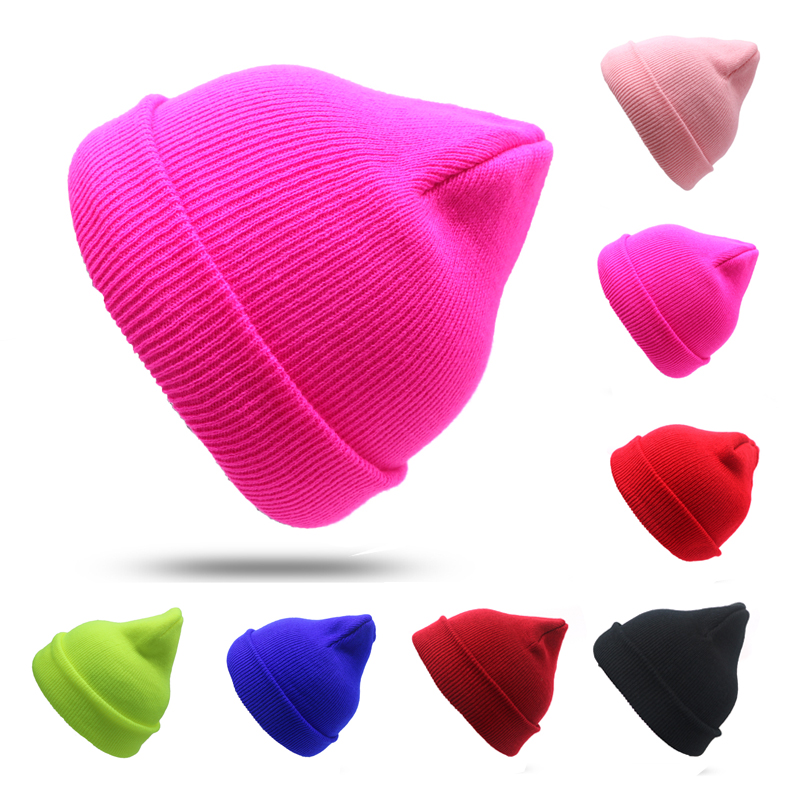 1pcs Knitted Hat Women   Beanie   Girls Autumn Casual Cap Women's Warm Winter Hats Cap Unisex Bonnet Gorro Invierno   Skullies     Beanies