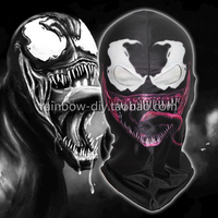 Hero Catcher High Quality 3D Print Venom Mask Spiderman Cosplay Face Mask Black Spiderman Spandex Mask