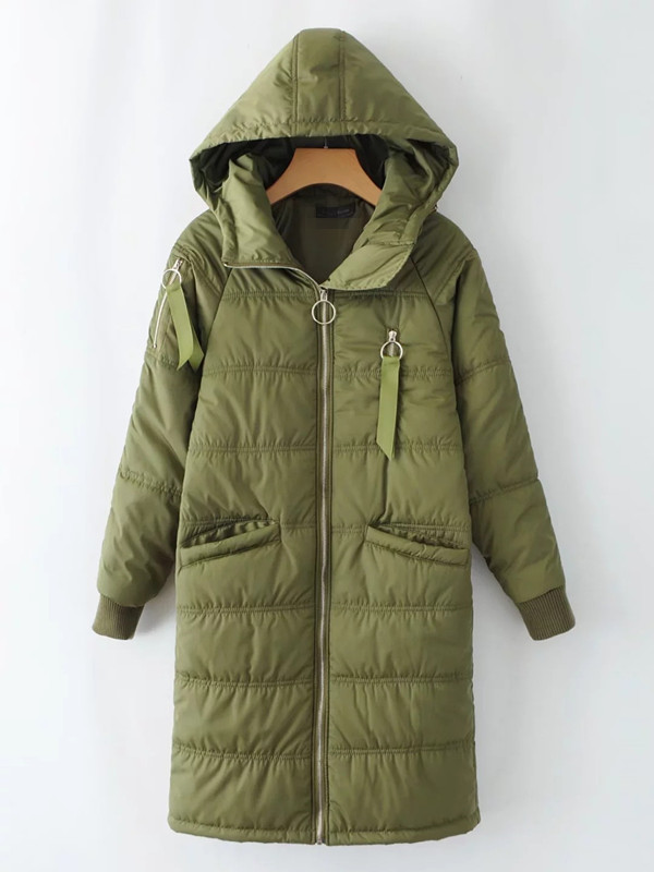 2017 Winter New European And American Fashion Female Long Paragraph Thick Bread Hooded Coat european and american 2017 new lychee grain 100