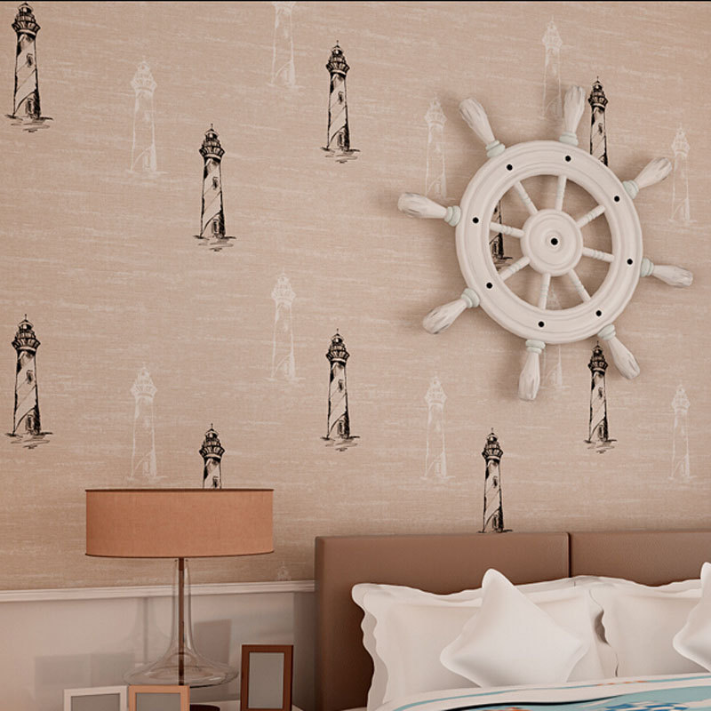 beibehang papel parede Mediterranean Cartoon Design Wallpaper roll Children Room Wall Decor Mural Wallpapers mural Wall Paper english wallpaper roll for baby room lovely hand painted wallpapers children wall paper mural non woven wallpapers for boy room