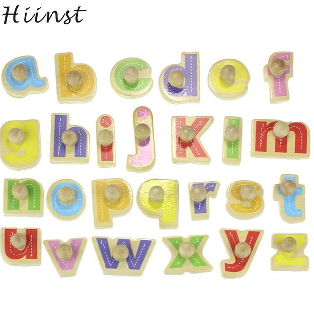 HIINST Best Seller Factory Price Wooden Blocks Alphabet Kid Children Educational Intellectual Toy Wholesale Letters Toys