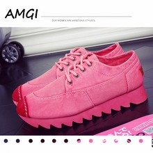 AMGI  2017 new fashion high quality comfortable walking casual shoes  women shoes breathable shoes 5 colors 358