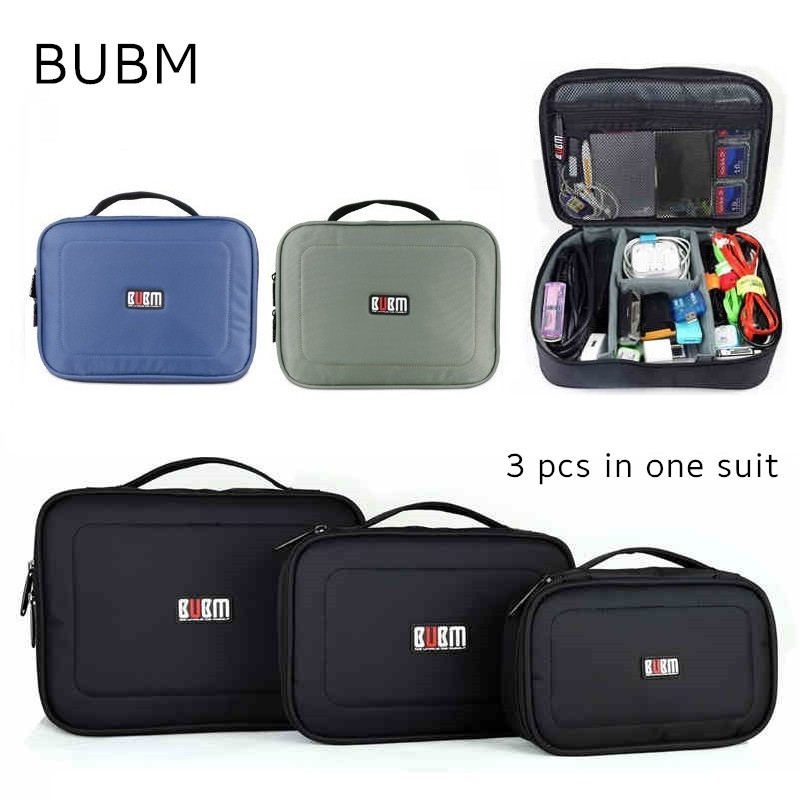 Hot Brand BUBM Accessories Storage Bag For Ipad mini 7 , Case For Tablet ,3 pcs in 1 Suit Handbag, Free Drop Shipping bubm storage bag deluxe travel case for playstation vr psvr headset and accessories waterproof dustproof shockproof handbag