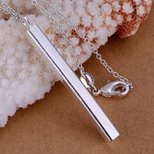 P222_2 Fine silver plated wholesale jewelrys,Hot sale Factory price charm free shipping silver fashion Straight Pendants