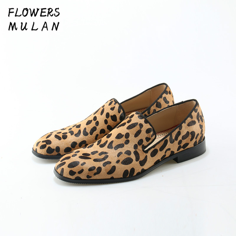 Leopard Prints Loafers Men Velvet Casual Shoes Men Flats Plus Size Men Prom Shoes suede leather penny loafers moccasins Footwear fashionable tassels ornament leopard pattern flat shoes loafers black leopard pair size 36