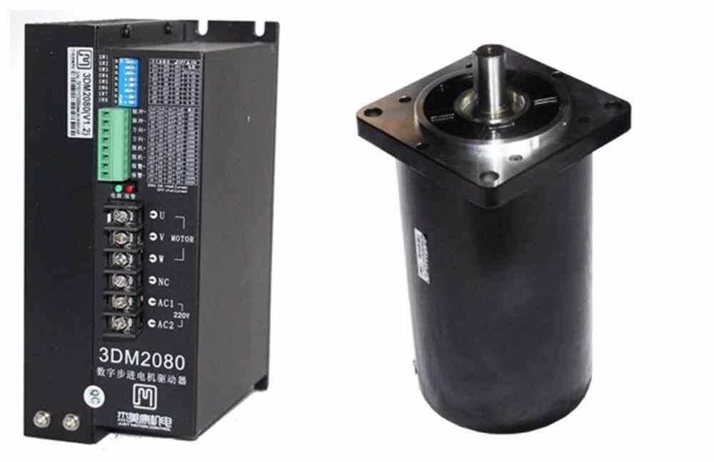 NEMA52 28Nm 3960ozin Hybrid stepper motor driver kit 3phase 80 240VAC for CNC engraving cutting 130J12220