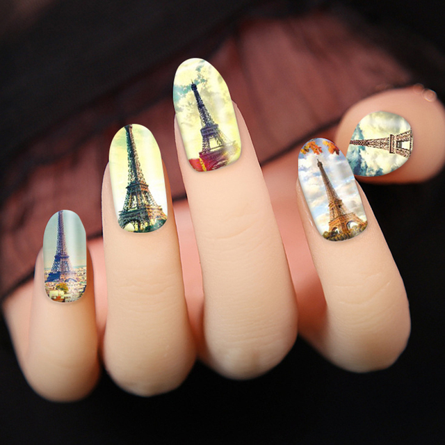 Aliexpress Buy Europe Style Sky Buildings Wraps Manicure Paris