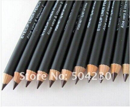 12 шт./лот бренд Цвет коричневый или черный для бровей Подводка для глаз карандаш темно-Кофе Цвет Макияж глаз/Lip Liner Pencil оптовая продажа
