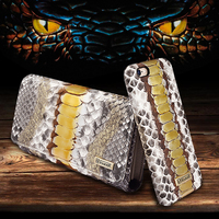 Icarer Python Leather Wallet Case For Iphone 5 6 7 Plus Fashion Card Slots Cash Handbag