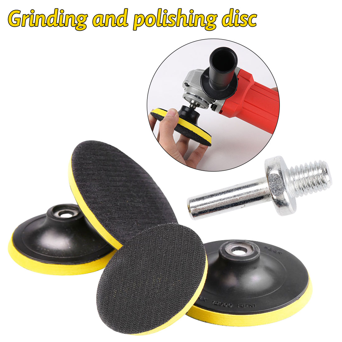 Grinding And Polishing Disc Self-adhesive Sandpaper Disc Grinding Disc Sponge Polishing Electric Drill Polishing Disc