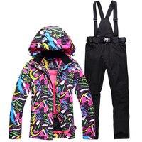 NEW Skiing suits Jackets pants women Snowboarding Sets Female winter Sportswear snow ski jacket Breathable Waterproof Waterproof