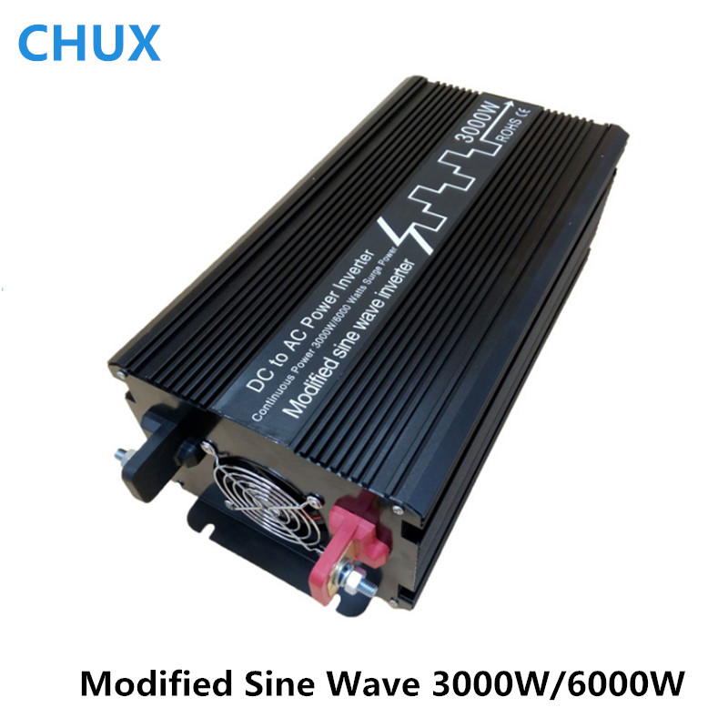 цена на Modified Sine Wave Power Inverter 3000W Surge Power 6000W Off grid DC 12V 24V to AC 110V 220V Smart Series Solar Inverter