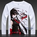 Akame ga KILL! T-shirts Costumes Esdese Long Sleeve Lovely Tops Tees Plus Size t shirts