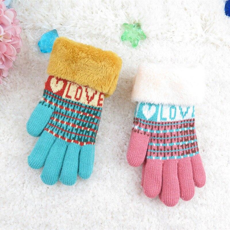 HQ Fashion Childrens Gloves Mittens Kids Cute Knit Wool Glove Soft Warm Full Finger Mitten Boys Girl Winter Accessories NXH2421