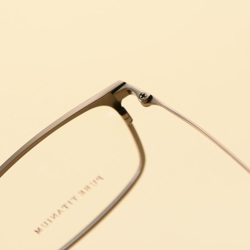 Reinem Gläser Rahmen Qualität Titan Männer Hohe Hyperopie Progressive Multifokale Myopie Optische Brillen axBpTE