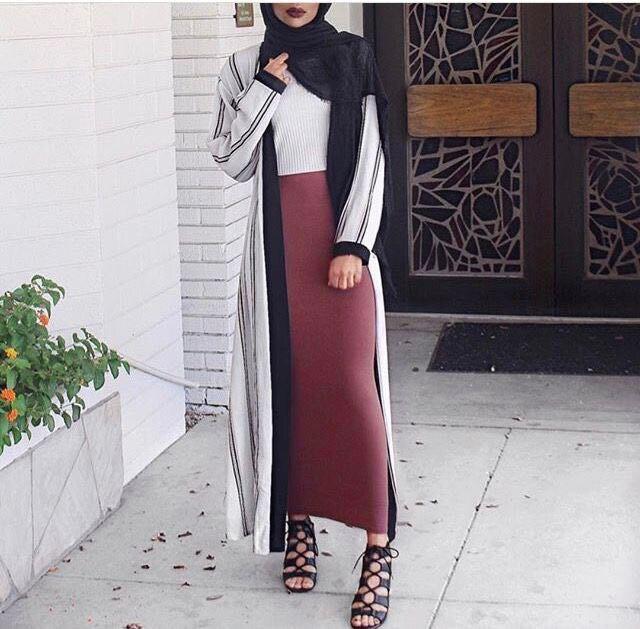 Muslim-Fashion-Cotton-Knitted-Brushed-Thicken-Pack-Hips-Islamic-Women-Pencil-Skirt-Elegant-Long-Bandage-Clothing