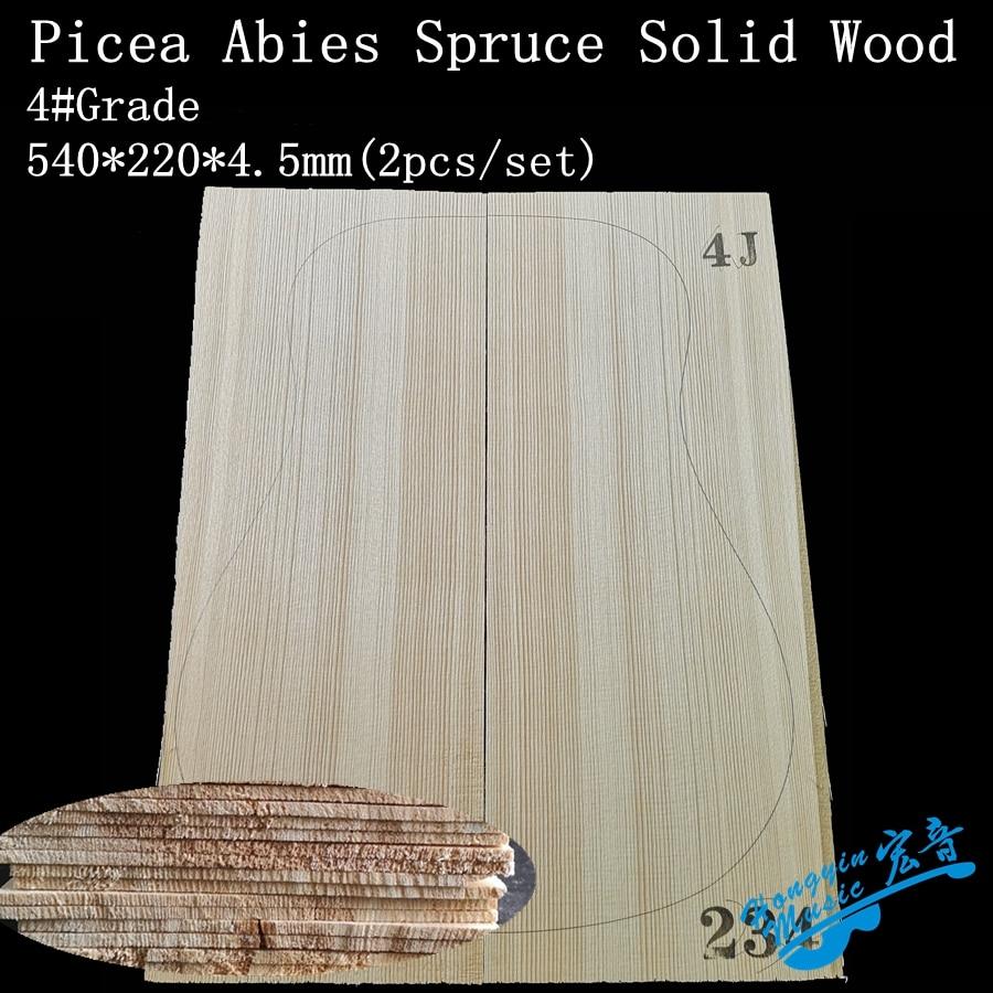 4#Grade Picea Abies Alps Spruce Solid Wood Guitar Top 41 Inch DIY Wood Guitar Panel Handmade Guitars Making Material 4.5*215*5
