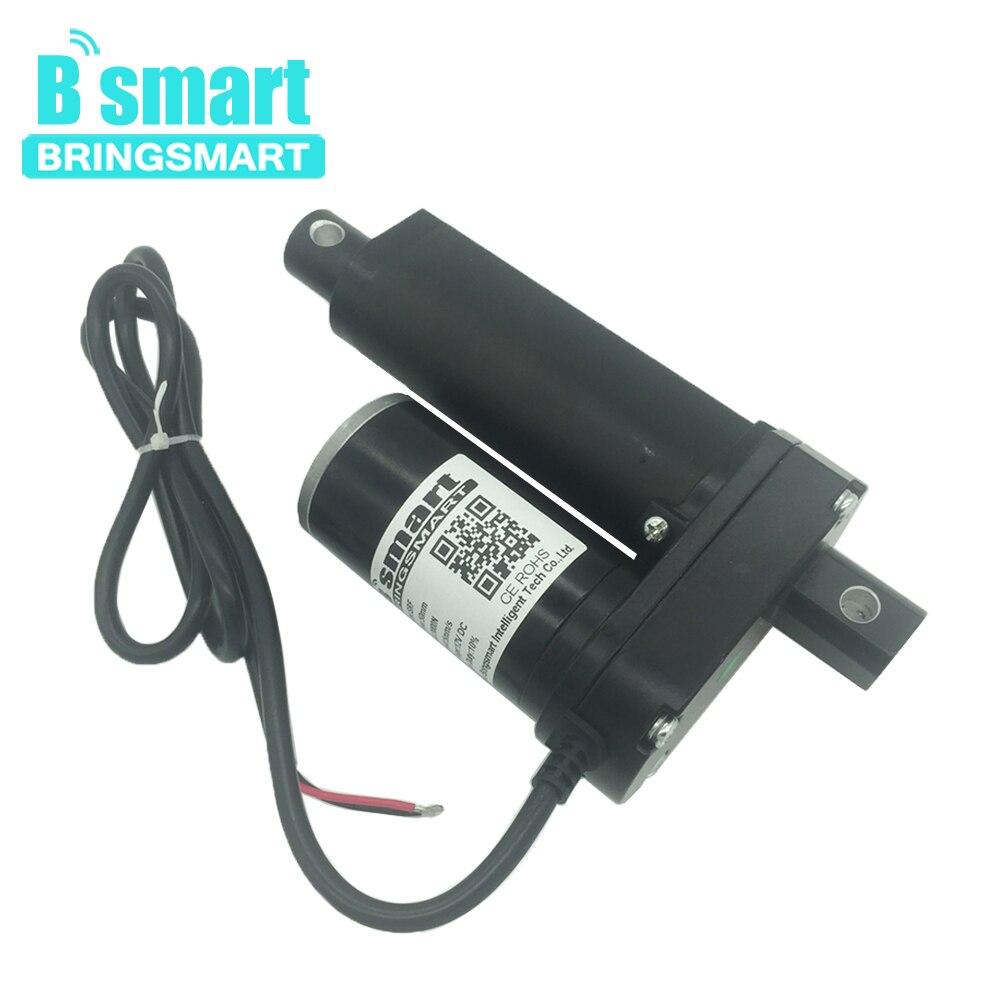 Bringsmart SRF длина хода 2 дюйма (50 мм) 12 В 24 в 48 в Dc Линейный привод мотор 500-3500N 3-30 мм/сек. для электрического оконного привода