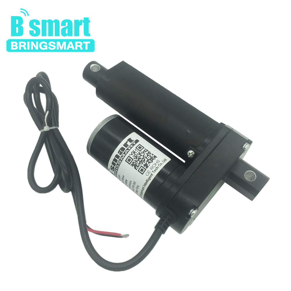 цена на Bringsmart SRF Stroke Length 2 Inch (50mm) 12V 24V 48V Dc Linear Actuator Motor 500-3500N 3-30mm/s For Electric Window Actuator